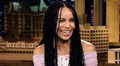 fallon tonight, gif*, gtkm*, laughing, lolawolf, marvelcastedit, my edit, the tonight show, zkedit, zkravitzedit, zoe kravitz, get to know me meme: [4/10] current celebrity crushes  zoe k GIFs