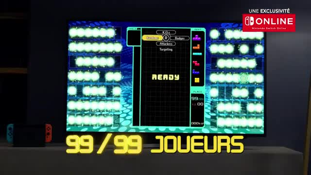 Watch TETRIS® 99 - 99 joueurs… mais un seul décrochera la victoire ! (Nintendo Switch) GIF on Gfycat. Discover more AIS, Jeux, bande-annonce, console, fr, fran, nintendo, nouveau, officiel, switch, tetris, tetris99, tetrsi, trailer GIFs on Gfycat