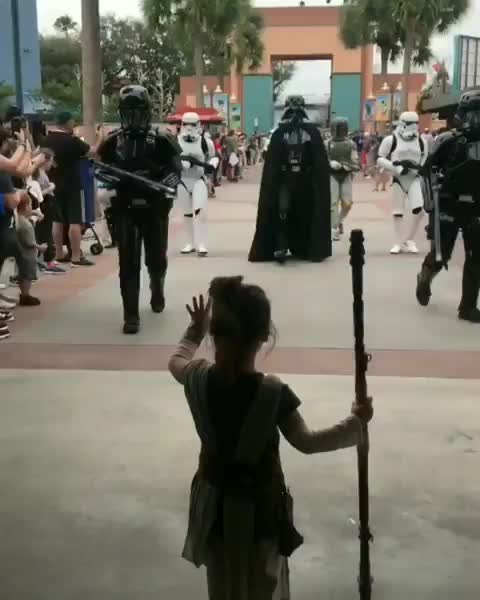 aww, star wars, the force, Little Rey using the force GIFs