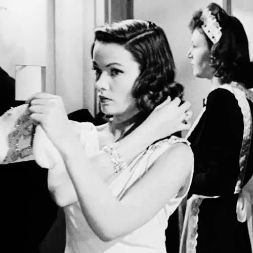 Watch this trending GIF on Gfycat. Discover more 1944, black and white, film, gene tierney, gif, laura, my edit, old hollywood, vintage GIFs on Gfycat