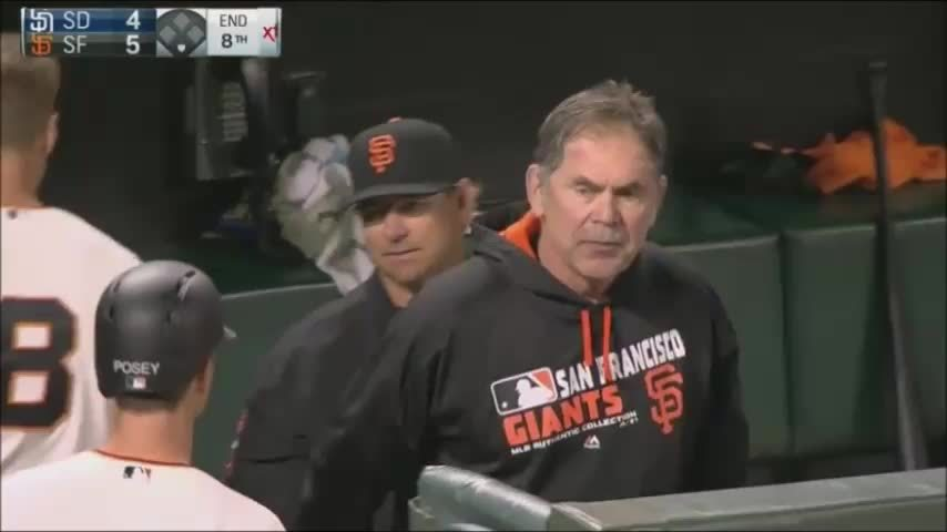 sfgiants, Surly Bochy is my favorite Bruce Coachy (reddit) GIFs
