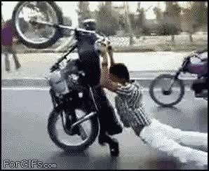 Watch and share Motorcycle Drags Stuntin GIFs on Gfycat