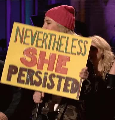 Watch and share Heidi Gardner GIFs and Womens March GIFs by Reactions on Gfycat