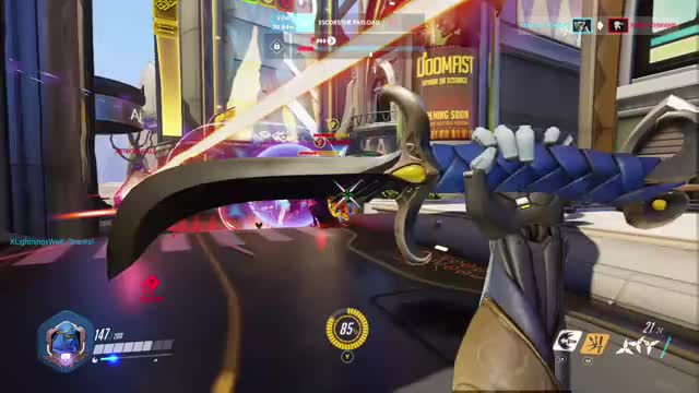 Watch and share Genji Blade With Deflect GIFs by flyingtango on Gfycat
