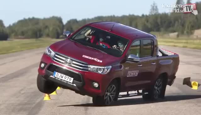 Watch and share The New Toyota Hilux 2016 Fails Moose Test GIFs on Gfycat