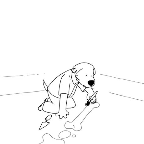 Archeologist doggo