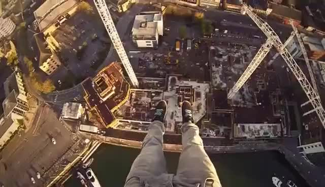 Watch and share POV Crane Climb In Southampton, UK With James Kingston GIFs on Gfycat
