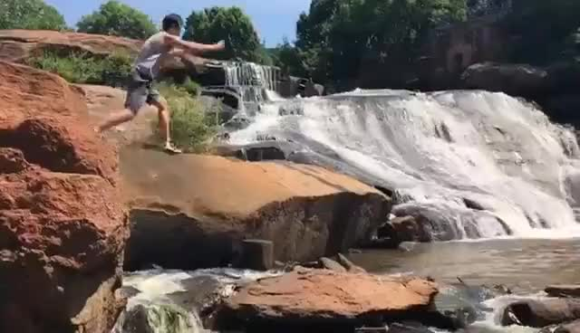 Watch and share Rock Jump GIFs on Gfycat