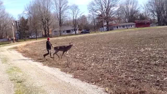 Watch man vs 11 point buck GIF on Gfycat. Discover more outdoors GIFs on Gfycat