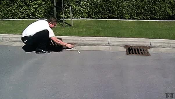 Watch and share Duckling Grid Sewer Rescued Falls Back In Lemming GIFs on Gfycat