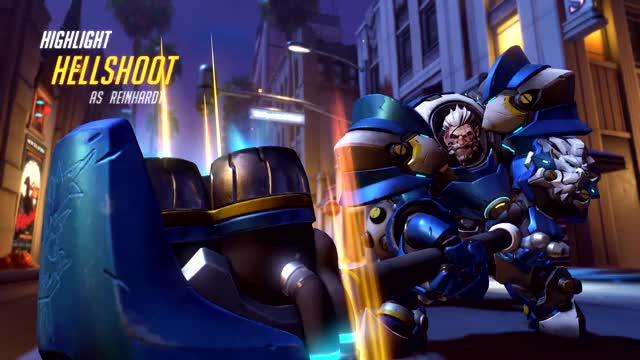 Watch and share Overwatch GIFs and Reinhardt GIFs by hellshoot on Gfycat