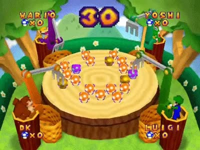 Mario Party 2 Netplay Minigame: Rakin' 'em In