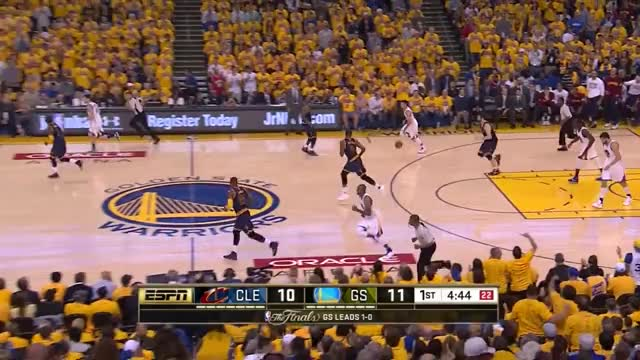 Watch and share LeBron James Breaks Up Pass - 2016 Finals Game 2 GIFs by whitehops on Gfycat