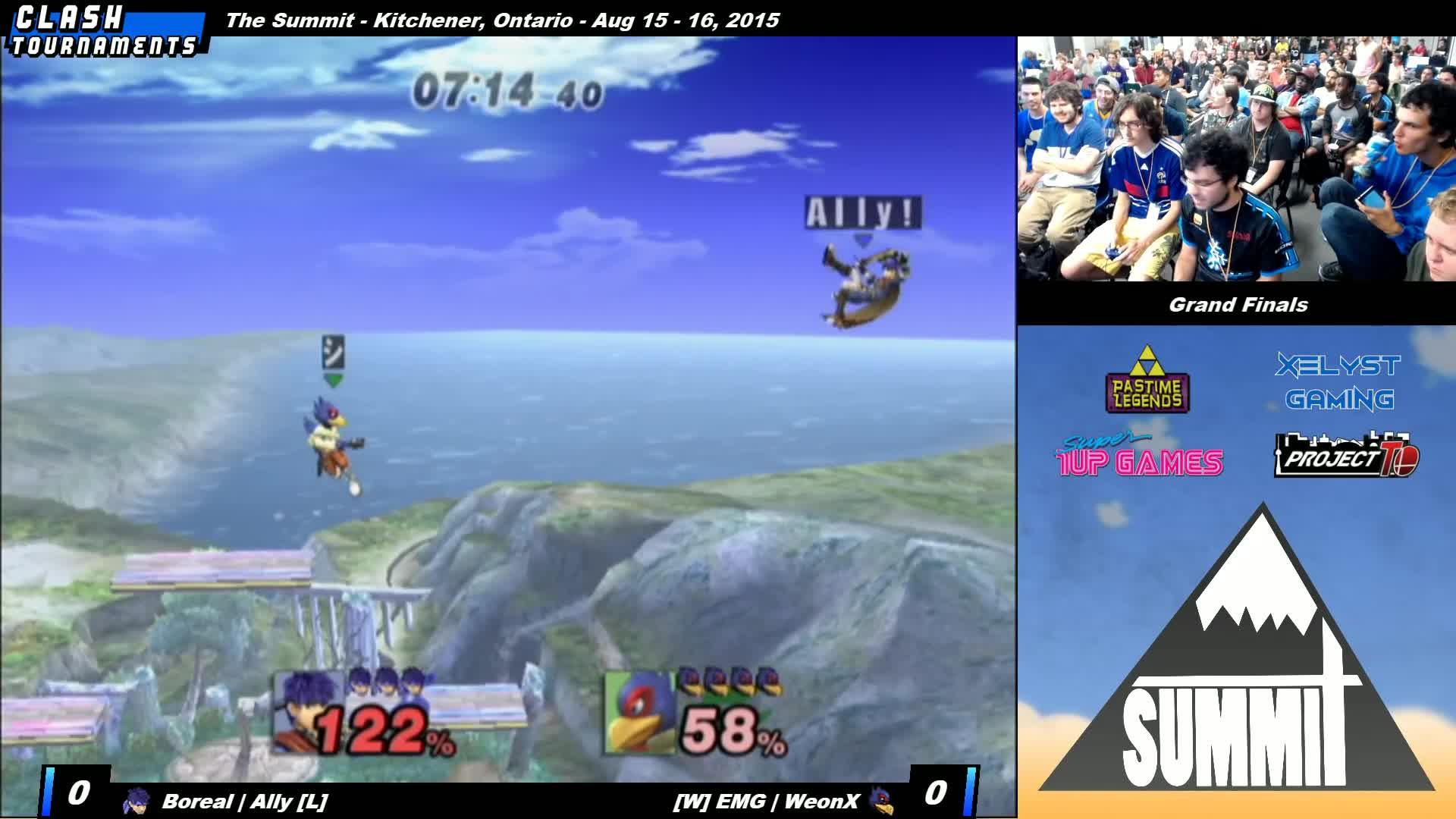 brawl, mod, pm, smash 4, smashgifs, smashtournament, ssmb, super smash bros. brawl, super smash bros. for nintendo 3ds and wii u (video game), super smash bros. melee, tournament, Jump Cancel Ike - Summit - Ally (Ike) vs Weon-X (Falco) - Grand Finals - Project M GIFs
