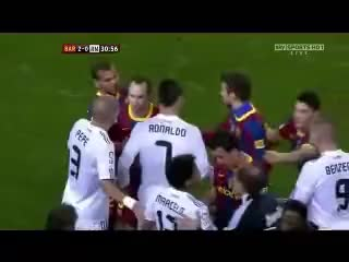 Watch and share Cristiano Ronaldo Vs Pep Guardiola Push Fight [FC Barcelona-Real Madrid, 5-0, 29/11/2010] GIFs on Gfycat