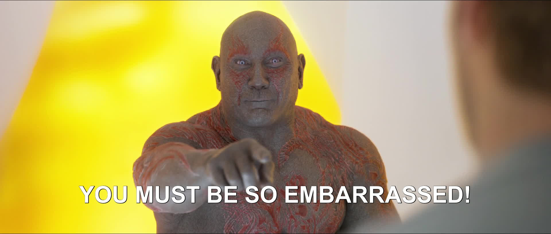 dave bautista, embarrassed, guardians of the galaxy, You Must Be So Embarrassed GIFs
