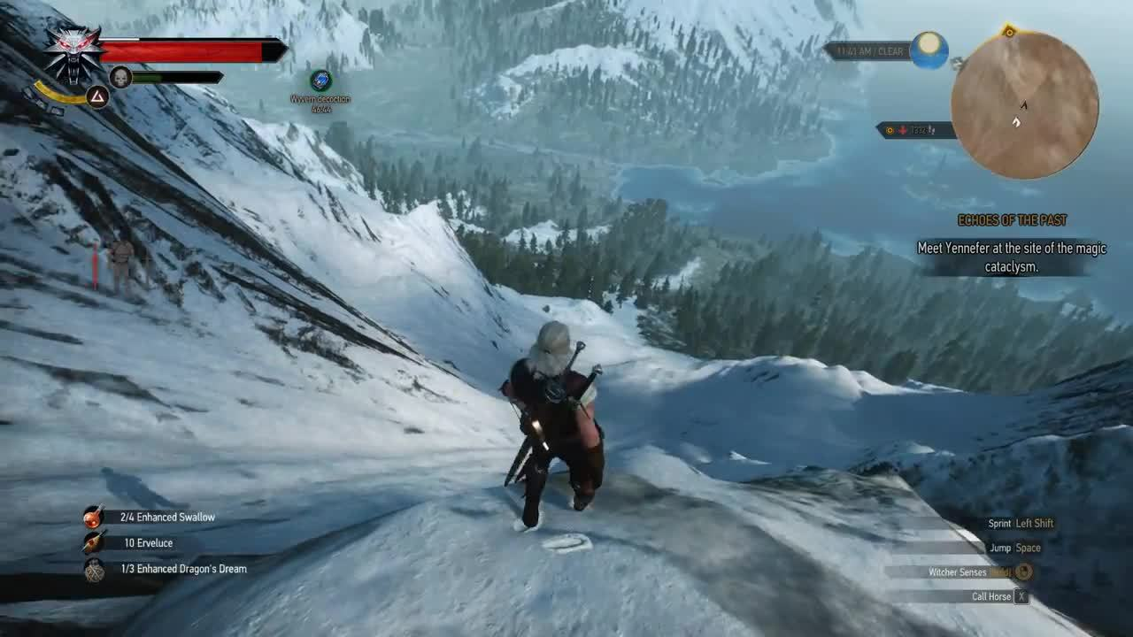 Geralt goes skiing (reddit) GIFs