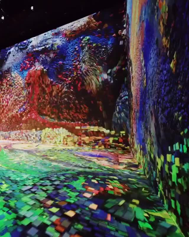 "Watch and share The Immersive Digital Art In NYC. This Display Is Called ""Machine Hallucination"" GIFs by mynamegiforeilly on Gfycat"