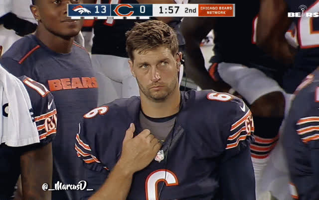 swordartonline, Jay Cutler looking thrilled on the sideline GIFs