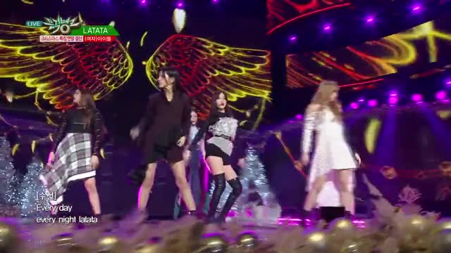 Watch (G)I-DLE - LATATA [Music Bank - 2018.12.21] GIF by milk (@jennuyu) on Gfycat. Discover more G_I_DLE, Soojin GIFs on Gfycat