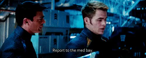 Watch and share Captain James Kirk GIFs and Leonard Mccoy GIFs on Gfycat