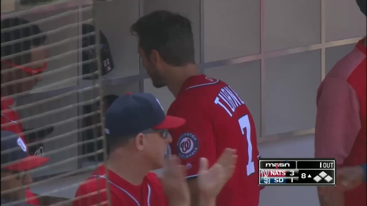 nationals, washington nationals, trea turner hugged by gerardo parra from behind GIFs