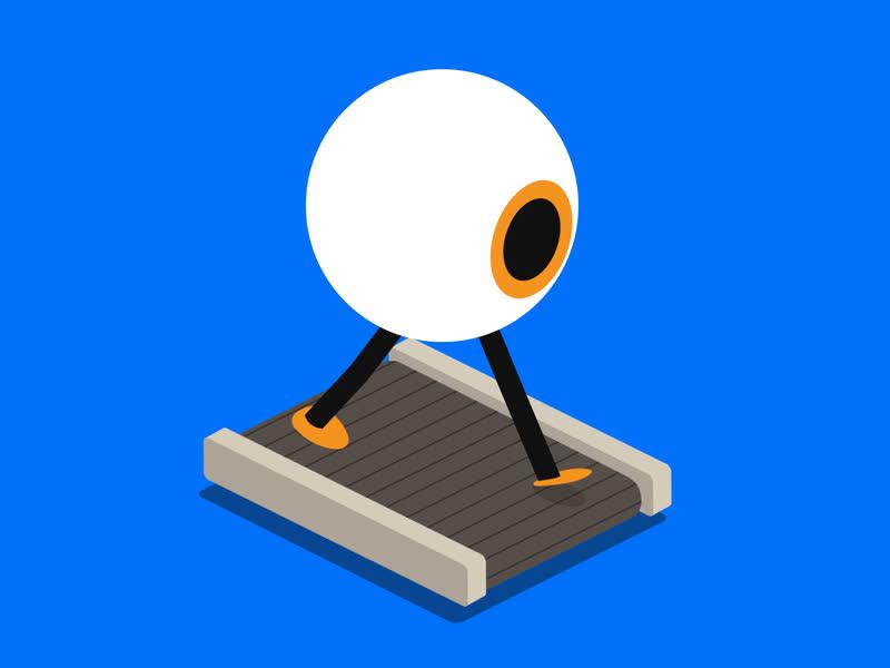 Made a gif of an Isometric (eye-sometric) Eyeball Exercising on a Treadmill GIFs