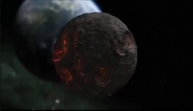 Watch and share Discovery Channel - Large Asteroid Impact Simulation GIFs on Gfycat