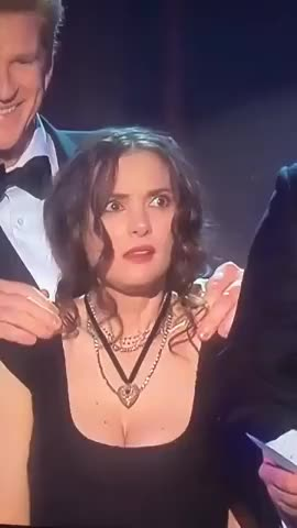 Watch and share Stranger Things Wins At The  SAG Awards -- And Winona Ryder's Facial Reactions Are EVERYTHING!!!! GIFs on Gfycat