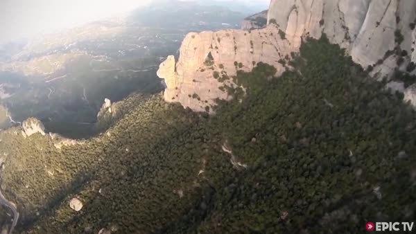 askreddit, holdmyredbull, Wingsuit Flight Through Hole GIFs