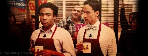 Watch this trending GIF on Gfycat. Discover more danny pudi, donald glover GIFs on Gfycat