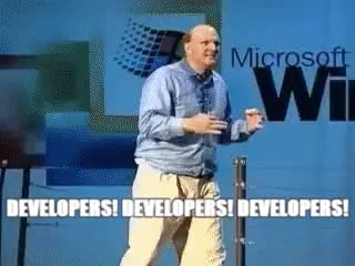 Watch and share Steve Ballmer GIFs and Developers GIFs on Gfycat