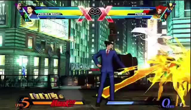 Watch and share 'ASSIST ME!' - Phoenix Wright And Iron Fist: Ultimate Marvel Vs Capcom 3 Live Action Tutorial GIFs on Gfycat
