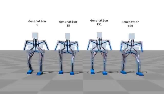 Simulated Bipeds GIFs