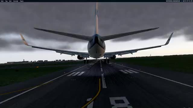 Watch and share EHAM 738 Landing Lang GIFs on Gfycat