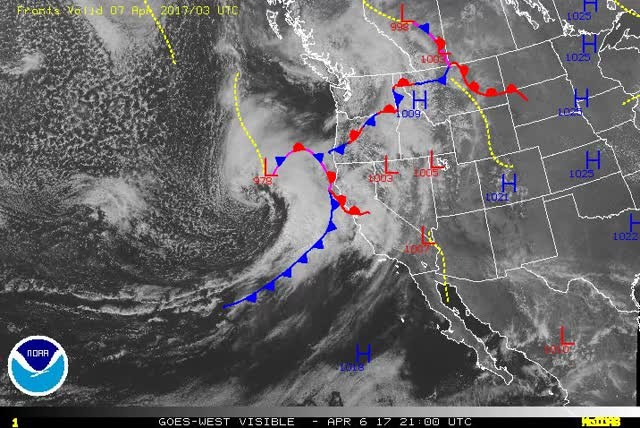 Watch and share US West - GOES - Visible GIFs by The Watchers on Gfycat