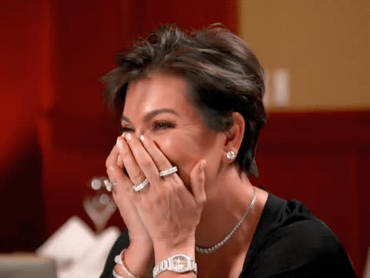 blush, blushing, embarrassed, keeping up with the kardashians, kris jenner, kuwtk, mortified, Kris Jenner Embarrassed GIFs
