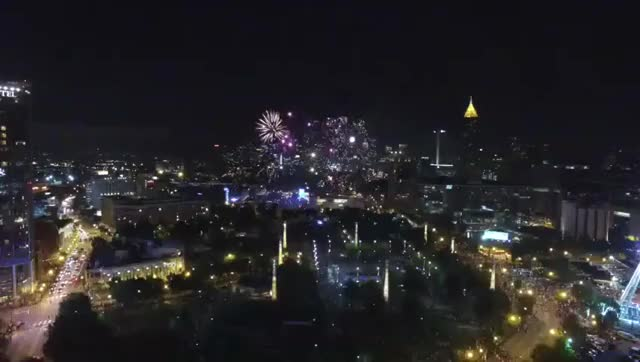 Watch Atlanta Fourth of July show @ Centennial Olympic GIF on Gfycat. Discover more atlanta, djiphantom, independence day GIFs on Gfycat