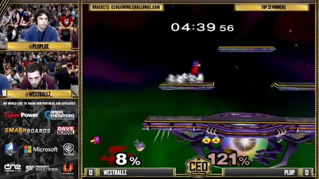 CEO 2015 - Westballz (Falco) Vs. Plup (Sheik) SSBM Winners Top 32 - Smash Melee