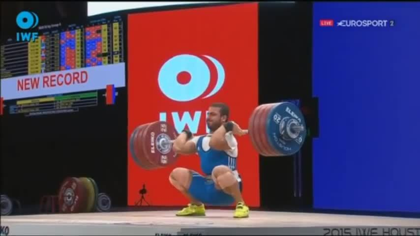 weightlifting, [GIF] Kianoush Rostami (85kg) 219kg record attempt, disqualified because elbow touched knee, you be the judge (reddit) GIFs