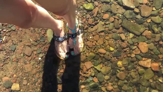 Watch Walking in Water GIF by heartnsole on Gfycat. Discover more prettyfeet, prettysandals, walkinginwater GIFs on Gfycat