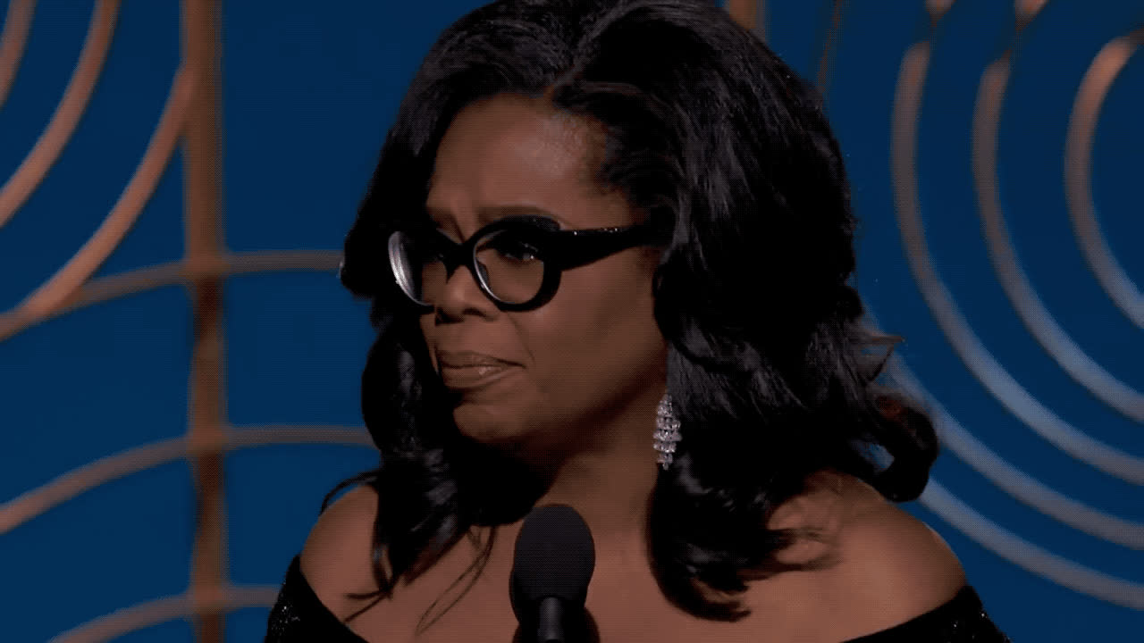 2018, award, b, cecil, celebs, de mille, epic, globes, golden, oprah, oprah winfrey, president, thank, thank you, thanks, times up, winfrey, Oprah Winfrey - Thank you GIFs