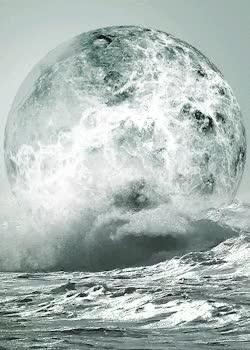 gif upload moon water ocean vertical