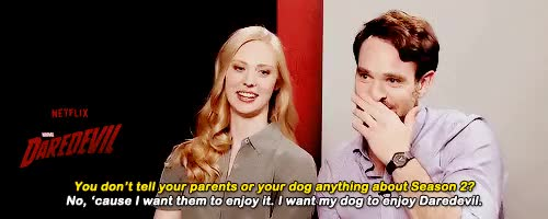 Watch and share Deborah Ann Woll GIFs and Charlie Cox GIFs on Gfycat