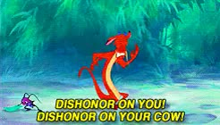 Watch and share Mulan Cow GIFs on Gfycat