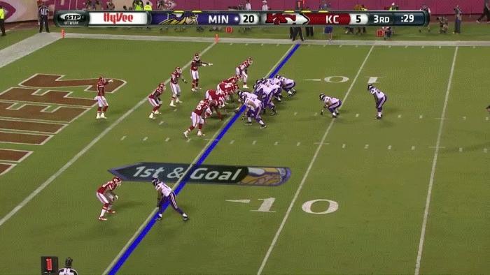 nflgifs, Teddy Bridgewater TD pass vs. the Chiefs. (reddit) GIFs