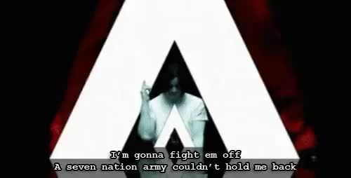 Watch Army GIF on Gfycat. Discover more Jack White, Meg White, Seven Nation Army, The White Stripes GIFs on Gfycat