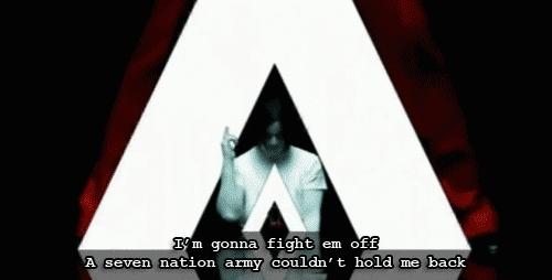Jack White, Meg White, Seven Nation Army, The White Stripes, Army GIFs