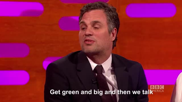 Watch and share Graham Norton Show GIFs and Mark Ruffalo GIFs on Gfycat