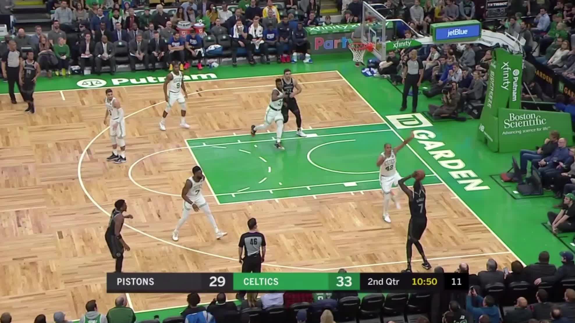 Boston Celtics, Detroit Pistons, NBA, Thon Maker, basketball, Thon Maker transition rim GIFs